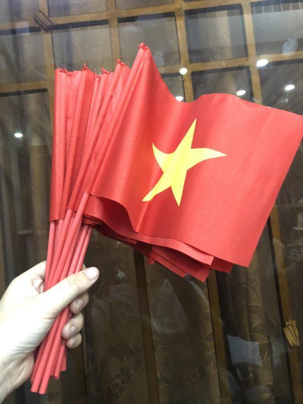 Cờ cầm tay Việt Nam in lụa