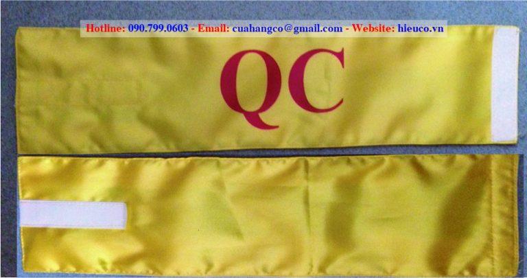 Bang deo tay QC